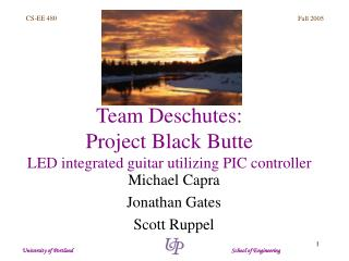 Team Deschutes:  Project Black Butte LED integrated guitar utilizing PIC controller