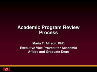 Academic Program Review Process