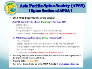 Asia  Pacific  Spine  Society (APSS) (  Spine Section of APOA )