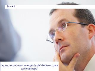 """""""Apoyo económico emergente del Gobierno para las empresas"""""""