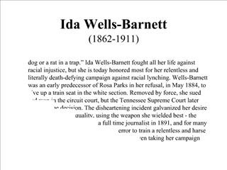Ida Wells-Barnett 1862-1911