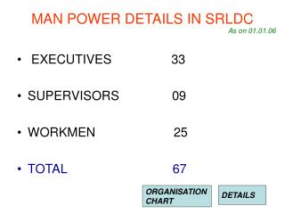 MAN POWER DETAILS IN SRLDC