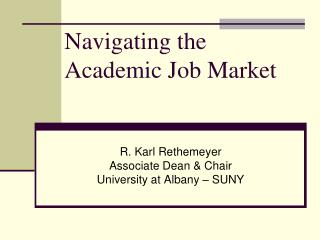 Navigating the Academic Job Market