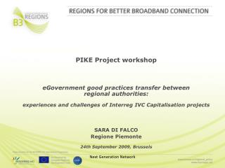 PIKE Project workshop eGovernment good practices transfer between regional authorities: