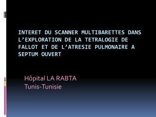 Hôpital LA RABTA Tunis-Tunisie