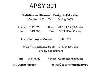 APSY 301
