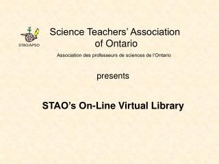 Science Teachers' Association  of Ontario