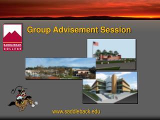Group Advisement Session