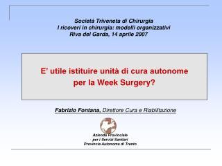 Azienda Provinciale                per i Servizi Sanitari Provincia Autonoma di Trento