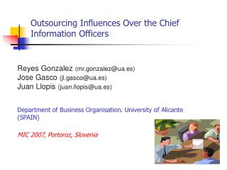 Outsourcing Influences Over the Chief Information Officers