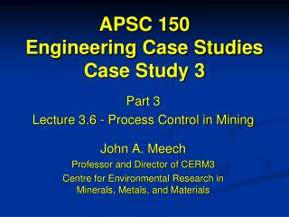 APSC 150 Engineering Case Studies Case Study 3