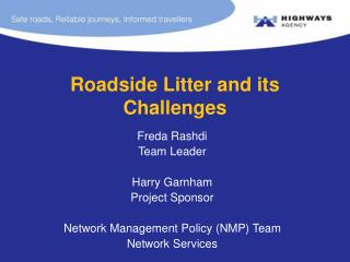 Roadside Litter and its Challenges