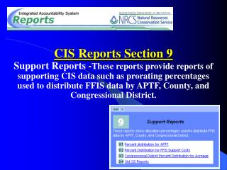 CIS Reports Section 9