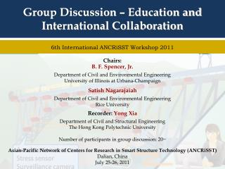 Group Discussion –  Education and International Collaboration