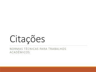 Cita��es