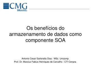 Os benefícios do armazenamento de dados como componente SOA