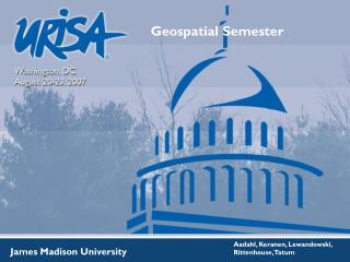 Geospatial Semester