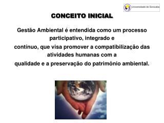 CONCEITO INICIAL
