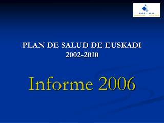 PLAN DE SALUD DE EUSKADI 2002-2010