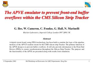 The APVE emulator to prevent front-end buffer overflows within the CMS Silicon Strip Tracker