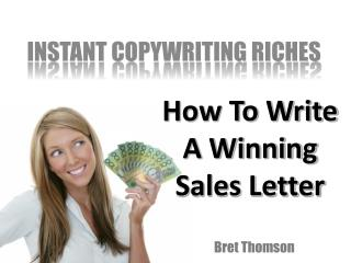 How To Write A Winning Sales Letter