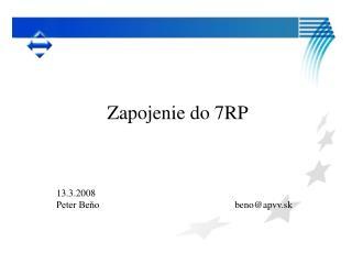 Zapojenie do 7RP
