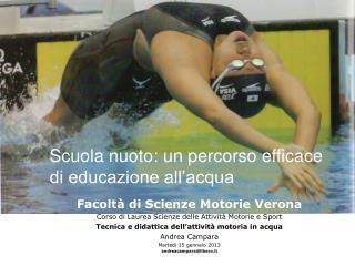 Scuola nuoto: un percorso efficace di educazione all'acqua