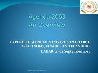 Agenda 2063 An Overview