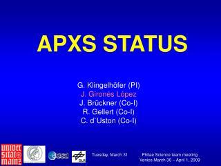 APXS STATUS