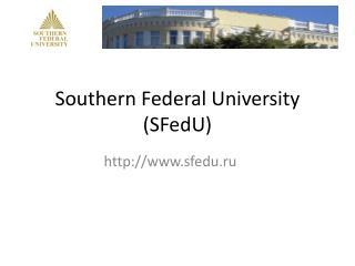 Southern Federal University (SFedU)