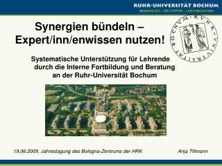 Synergien bündeln – Expert/inn/enwissen nutzen!