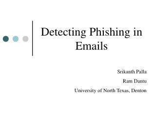 Detecting Phishing in Emails