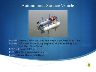 Autonomous Surface Vehicle