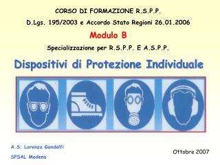 A.S. Lorenza Gandolfi SPSAL Modena