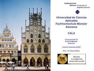 Universidad de Ciencias Aplicadas Fachhochschule Münster Alemania CALA