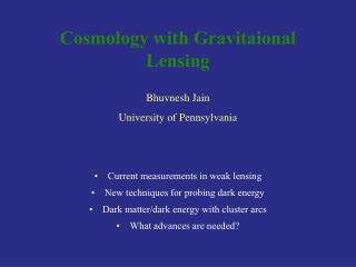 Cosmology with Gravitaional Lensing