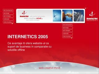 Ce avantaje iti ofera website-ul ca  suport de business in comparatie cu  solutiile offline