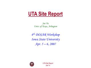 UTA Site Report