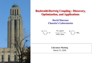 Buchwald-Hartwig Coupling : Discovery,  Optimization, and Applications