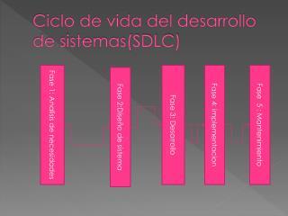 Ciclo de vida del desarrollo de sistemas(SDLC)