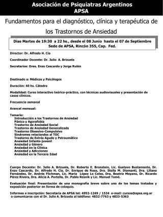 Asociación de Psiquiatras Argentinos APSA