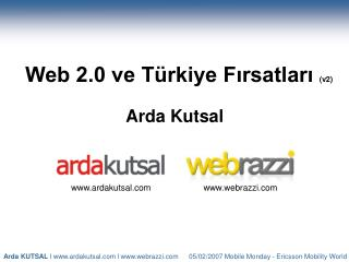 Web 2.0 ve Türkiye Fırsatları  (v2)