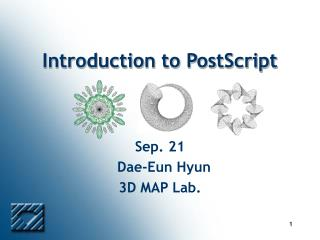 Introduction to PostScript