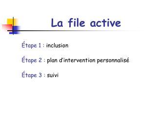 La file active