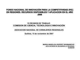 VII REUNION DE TRABAJO  COMISION DE CIENCIA, TECNOLOGIA E INNOVACIÓN