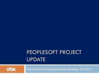PeopleSoft Project update