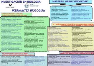 - Contaminación y Toxicología Ambientales - Agrobiología Ambiental