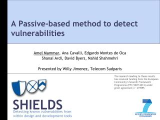 A Passive-based method to detect vulnerabilities