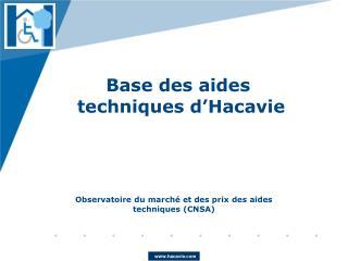 Base des aides   techniques d�Hacavie