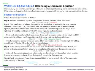 WORKED EXAMPLE 6.1 Balancing a Chemical Equation